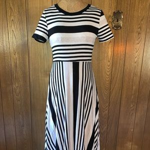 NWOT Beautiful Striped Modest Dress